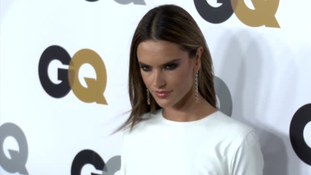 vídeos de stock, filmes e b-roll de alessandra ambrosio at gq's 2012 men of the year party on 11/13/12 in los angeles ca - alessandra ambrosio
