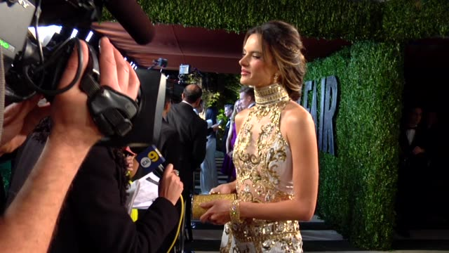 alessandra ambrosio at the 2013 vanity fair oscar party hosted by graydon carter alessandra ambrosio at the 2013 vanity fair oscar at sunset tower on... - vanity fair oscar party stock videos & royalty-free footage