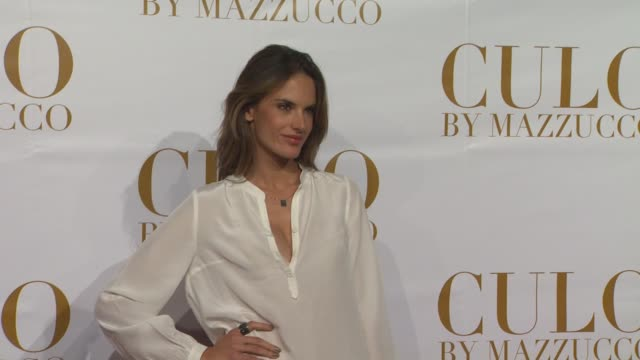 vídeos de stock, filmes e b-roll de alessandra ambrosio at the culo by mazzucco launch at west hollywood ca - alessandra ambrosio