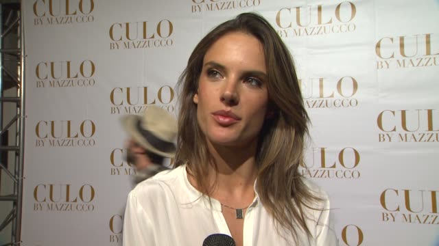 vídeos de stock, filmes e b-roll de alessandra ambrosio on why she wanted to be photographed for culo on working with raphael mazzucco and on the characteristics of a woman that... - alessandra ambrosio