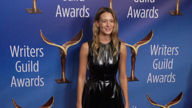 alessandra dimona at the 2020 writers guild awards at the beverly hilton hotel on february 01, 2020 in beverly hills, california. - the beverly hilton hotel stock videos & royalty-free footage
