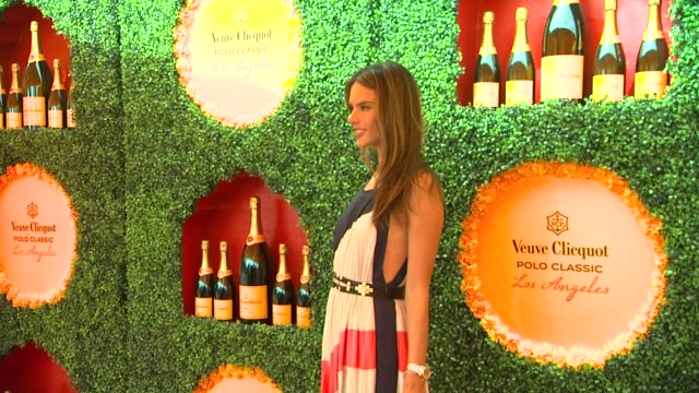 alessandria ambrosio at the third annual veuve clicquot polo classic - los angeles at will rogers state historic park on 10/6/12 in los angeles,... - 出来事の発生点の映像素材/bロール
