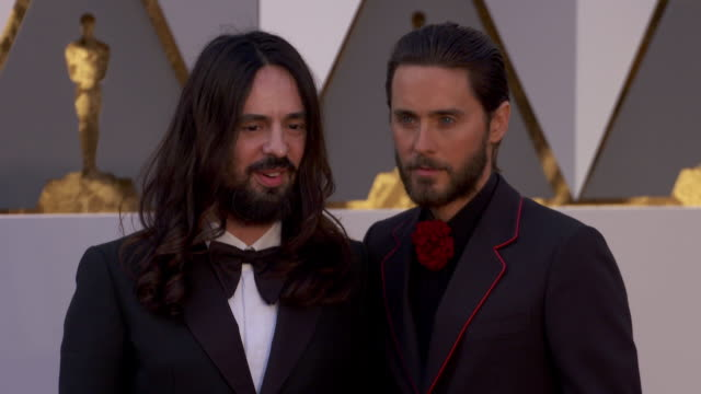 Alessandro Michele and Jared Leto at 88th Annual Academy Awards Arrivals at Hollywood Highland Center on February 28 2016 in Hollywood California 4K