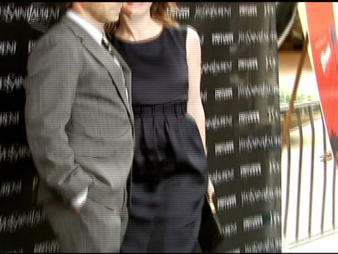 alessandro nivola and emily mortimer at the 'paris je t'aime' premiere at paris theater in new york new york on may 1 2007 - paris theater manhattan stock videos and b-roll footage