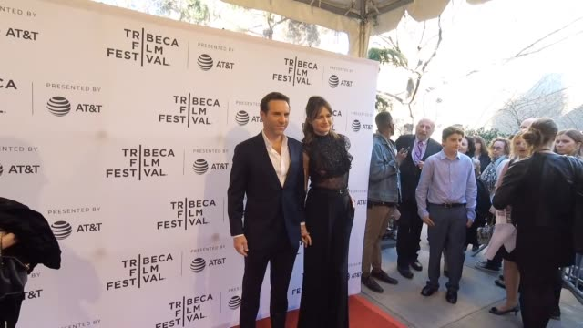 """stockvideo's en b-roll-footage met alessandro nivola and emily mortimer at the """"to dust"""" - tribeca film festival at sva theatre on april 22, 2018 in new york city. - alessandro nivola"""