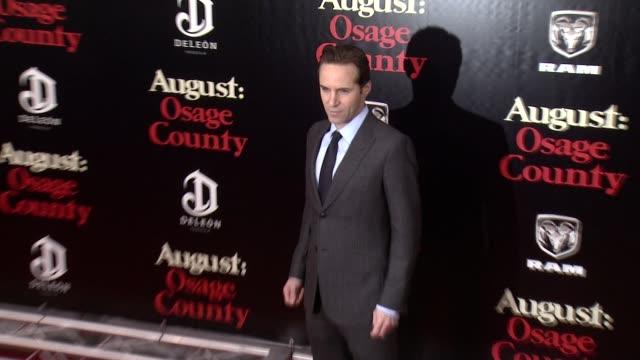 stockvideo's en b-roll-footage met alessandro nivola at 'august: osage county' new york premiere at ziegfeld theater on in new york city. - alessandro nivola