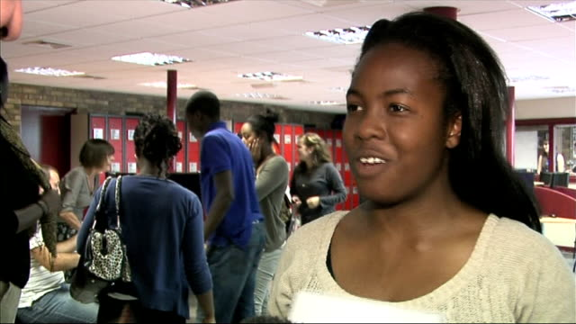 level results published: tough competition for remaining university places; england: london: rotherhithe: bacon's college: int shocked student... - receiving stock videos & royalty-free footage