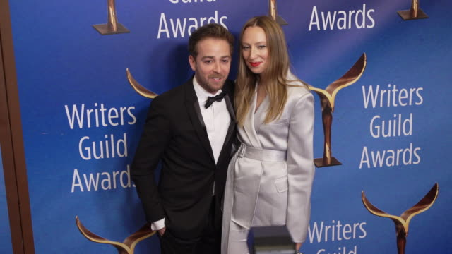 alex anfanger and anna konkle at the 2020 writers guild awards at the beverly hilton hotel on february 01, 2020 in beverly hills, california. - the beverly hilton hotel stock videos & royalty-free footage