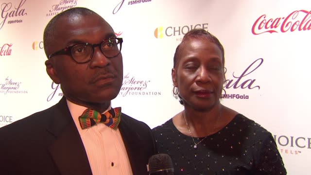 alex b. cummings says it's important to reach back once we've become successful at the 2015 steve & marjorie harvey foundation gala at hilton chicago... - tamron hall stock videos & royalty-free footage