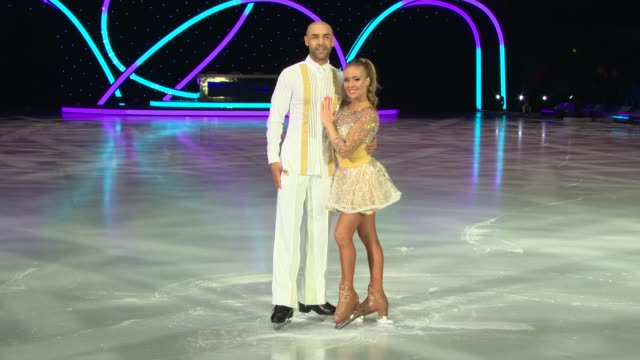 alex beresford and brianne delcourt at dancing on ice live uk tour - photo call at sse arena on march 22, 2018 in london, england. - wembley arena stock videos & royalty-free footage