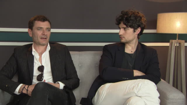 INTERVIEW Alex Brendemuhl Louis Garrel on the reception they have received at Cannes at 'Mal de Pierres' Interviews at Unifrance Tent on May 16 2016...