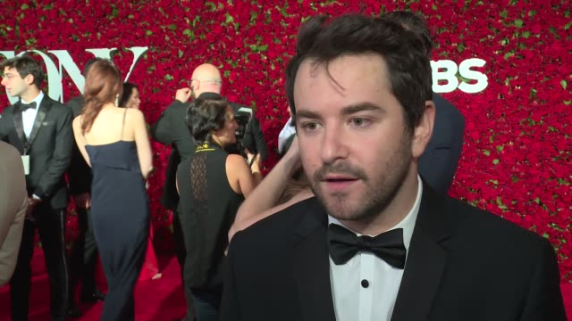interview alex brightman talks about being nominated at 2016 tony awards red carpet at the beacon theatre on june 12 2016 in new york city - 70th annual tony awards stock videos and b-roll footage