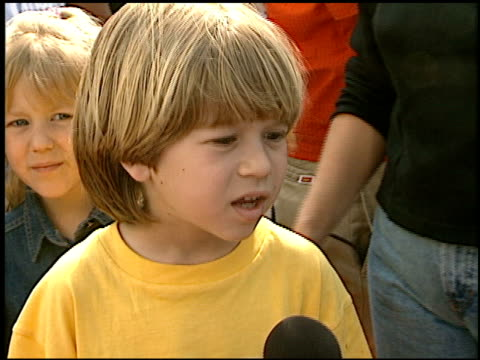 alex d linz at the 1997 nickelodeon kids' choice awards arrivals at grand olympic auditorium in los angeles, california on april 19, 1997. - nickelodeon stock videos & royalty-free footage