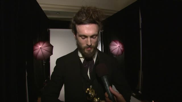 alex ebert on his last interaction with p diddy, on robert redford and composing for such a legend and on creating music for a movie that has so few... - ロバート・レッドフォード点の映像素材/bロール