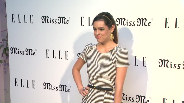 alex frnka at elle magazine and sarah hyland hosts songbirds' miss me album release party on 8/9/12 in los angeles ca - cd発売点の映像素材/bロール