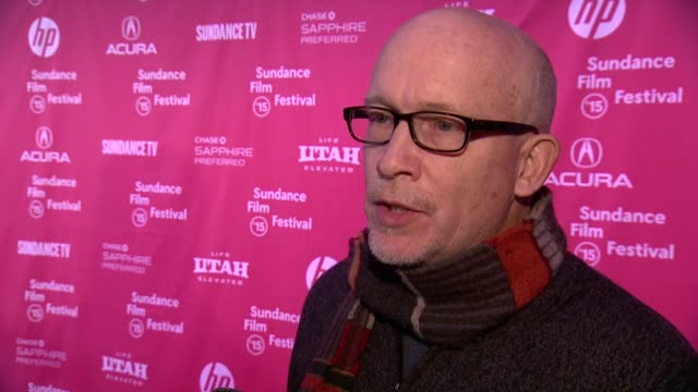 """alex gibney on his new film and its expected reaction at """"going clear: scientology, hollywood, and the prison of belief"""" premiere - 2015 sundance... - park city stock videos & royalty-free footage"""