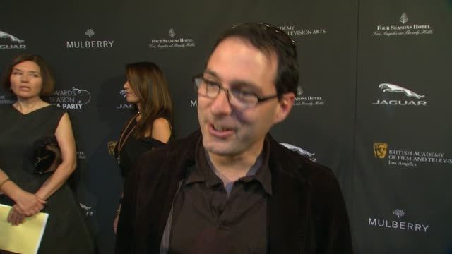 interview alex heffes on being a part of the afternoon at bafta la 2014 awards season tea party at four seasons hotel los angeles at beverly hills on... - season 11 stock videos and b-roll footage