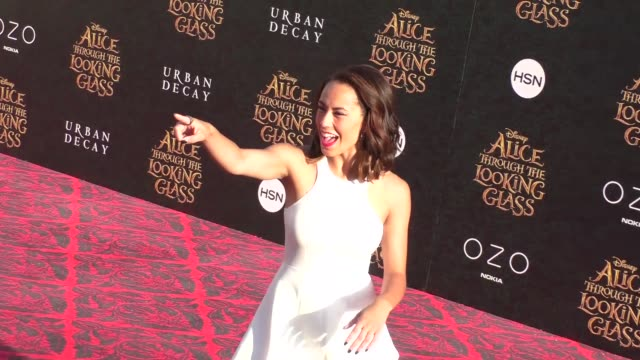 alex hudgens at the premiere of disney's alice through the looking glass at el capitan theatre in hollywood in celebrity sightings in los angeles, - el capitan theatre stock videos & royalty-free footage
