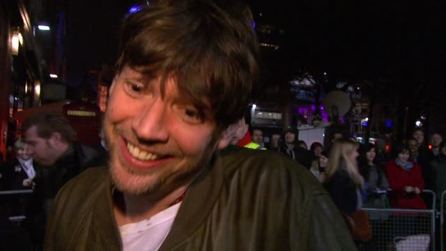 alex james on how the film is a celebration on how he forgot the cameras were there after a while on how the shows they've played have become part of... - film premiere stock videos and b-roll footage
