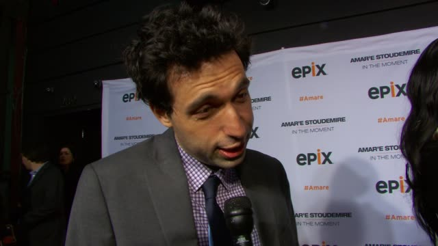 INTERVIEW Alex Karpovsky talks about his favorite Knicks memory on his fitness regimen on his summer plans at EPIX Premiere Of Amare Stoudemire IN...