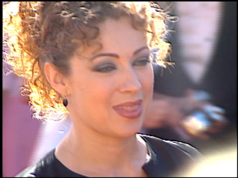 alex kingston at the 2000 emmy awards at the shrine auditorium in los angeles, california on september 10, 2000. - shrine auditorium video stock e b–roll