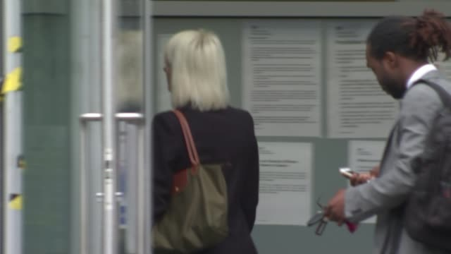mother gives evidence woolwich crown court lilya breha arriving at court - ウールウィッチ点の映像素材/bロール