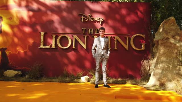 vídeos de stock e filmes b-roll de 4k alex mann at the lion king uk premiere on july 14 2019 in london greater london - meghan markle lion king