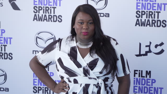 alex newell at the 2020 film independent spirit awards on february 08 2020 in santa monica california - film independent spirit awards stock videos & royalty-free footage