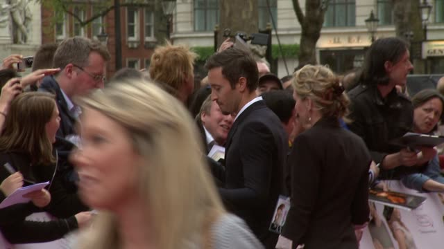 alex o'loughlin at the the back up plan premiere uk at london england - neckwear stock videos and b-roll footage