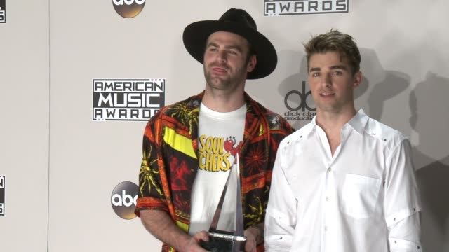 alex pall and drew taggar at 2016 american music awards at microsoft theater on november 20 2016 in los angeles california - american music awards stock videos and b-roll footage