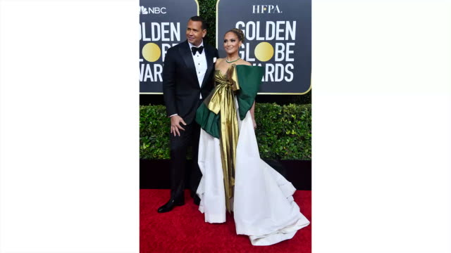 alex rodriguez and jennifer lopez attend the 77th annual golden globe awards at the beverly hilton hotel on january 05, 2020 in beverly hills,... - golden globe awards stock videos & royalty-free footage