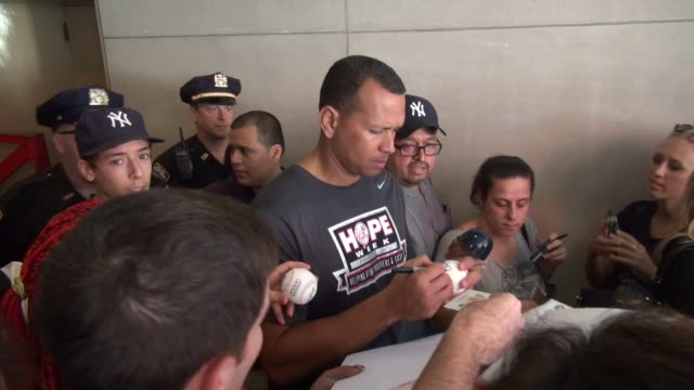 Alex Rodriguez leaving the 'TODAY' show signs for fans in Celebrity Sightings in New York