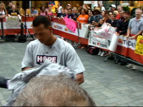 Alex Rodriguez outside the 'Today' show at the Celebrity Sightings in New York at New York NY