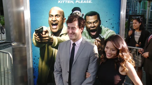 stockvideo's en b-roll-footage met alex rubens and emily chang at keanu los angeles premiere at arclight cinemas cinerama dome on april 27 2016 in hollywood california - cinerama dome hollywood