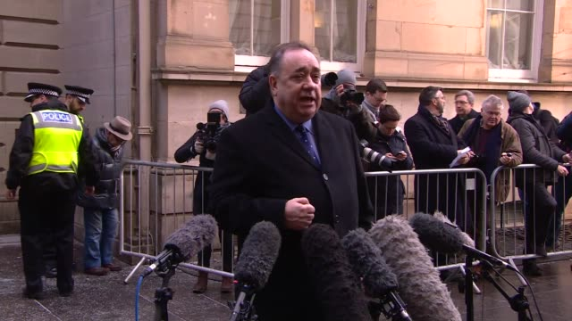 alex salmond appears in court charged with sexual assault and attempted rape scotland edinburgh chambers street edinburgh sheriff's court... - alex salmond stock videos & royalty-free footage