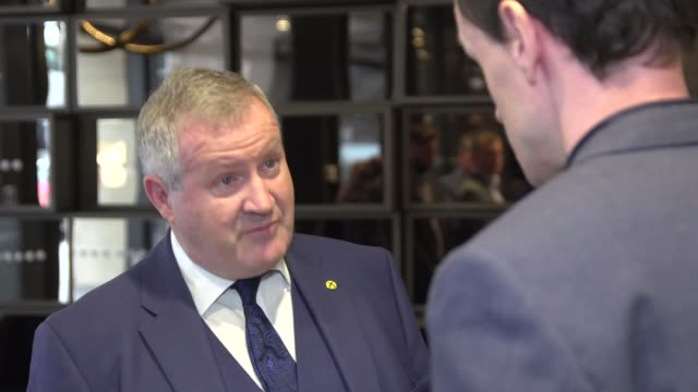 alex salmond crowdfunds to pay for sexual harassment allegations challenge scotland int reporter shaking hands with ian blackford mp blackford ian... - alex salmond stock videos & royalty-free footage