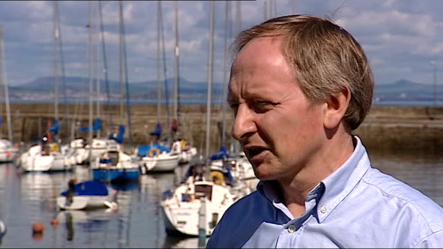 alex salmond elected first minister at holyrood ext alan taylor interview sot - alex salmond stock videos & royalty-free footage