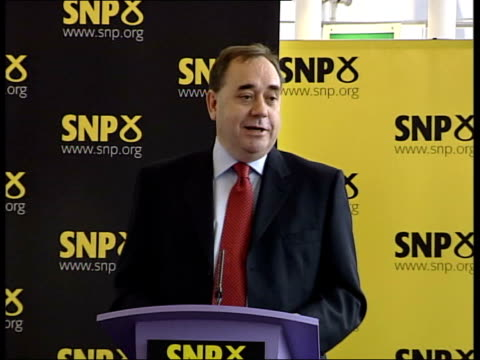 alex salmond elected new leader of the scottish national party; alex salmond mp press conference sot - i led snp for ten years as member of... - member of the scottish parliament stock videos & royalty-free footage