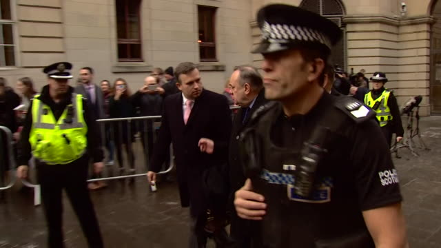 alex salmond former first minister of scotland leaves edinburgh sheriff court after hearing sexual assault charges against him - governmental occupation stock videos & royalty-free footage