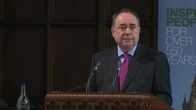 alex salmond receives honorary degree salmond speech sot talks of the vote in westminster to impose tuition fees / talks of calls for scotland to... - editorial stock videos & royalty-free footage