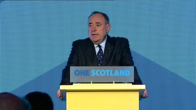 vídeos de stock e filmes b-roll de alex salmond responding to independence referendum outcome - escócia