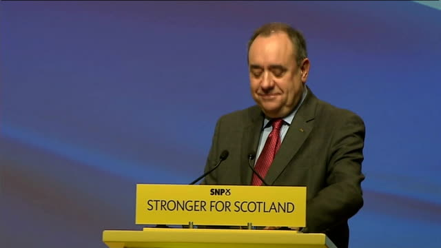 alex salmond speech as nicola sturgeon takes over snp **check alex salmond speech sot and so this party has changed but so has the governance of... - linlithgow stock videos and b-roll footage
