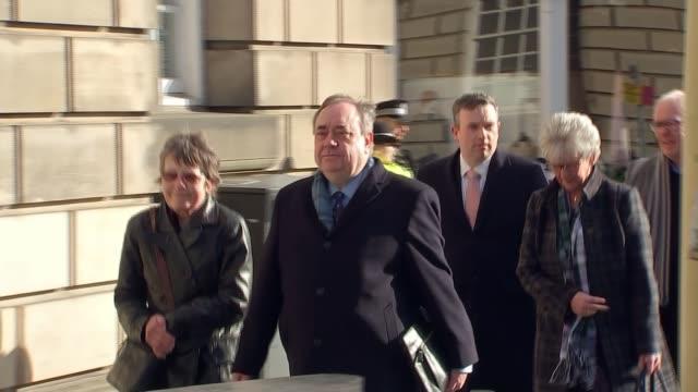 alex salmond enters the witness box scotland edinburgh high court of justiciary ext alex salmond along to court - alex salmond stock videos & royalty-free footage