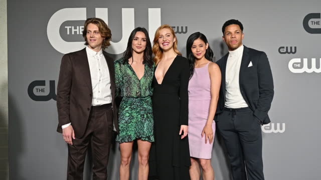 Alex Saxon Maddison Jaizani Kennedy McMann Leah Lewis and Tunji Kasim at the 2019 CW Network Upfront at New York City Center on May 16 2019 in New...