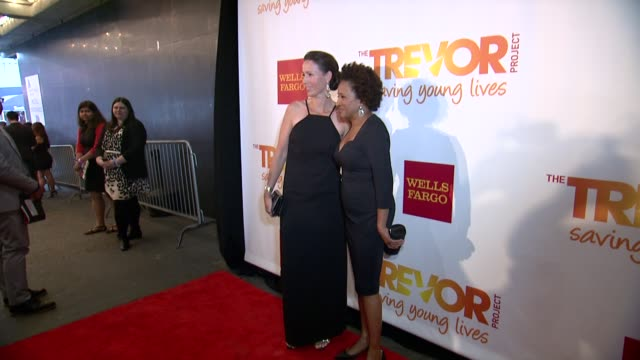 alex sykes and wanda sykes at the trevor project's 2014 trevorlive event honoring arianna huffington at marriott marquis hotel on june 16 2014 in new... - wanda sykes stock videos and b-roll footage