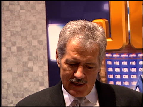 Alex Trebek at the NATPE 2000 on January 28 2000