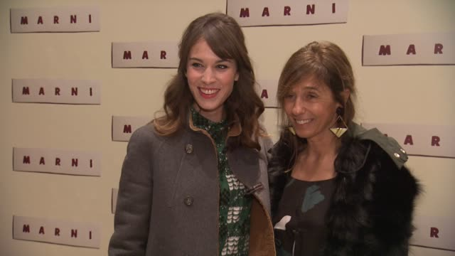 alexa chung and consuelo castiglioni at marni fragrance launch at tbd on february 05 2013 in new york new york - marni stock videos & royalty-free footage