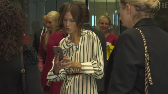 alexa chung at louis vuitton series 3 vip launch at the strand on september 20 2015 in london england - the strand london stock videos and b-roll footage