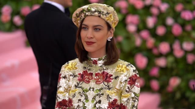 Alexa Chung at The 2019 Met Gala Celebrating Camp Notes on Fashion Arrivals at Metropolitan Museum of Art on May 06 2019 in New York City