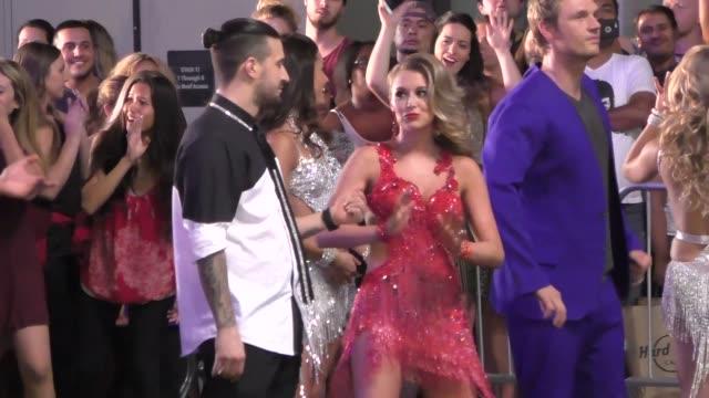 alexa penavega & mark ballas filming dancing with the starsflash mobon hollywood blvd in hollywood on september 10, 2015 in los angeles, california. - alexa penavega stock videos & royalty-free footage